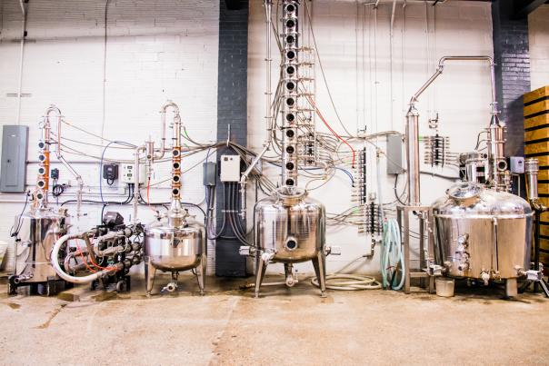 Three Rivers Distilling Company Stills in Fort Wayne, Indiana