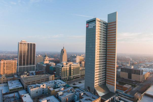Fort Wayne Winter Skyline - Visit Fort Wayne Only