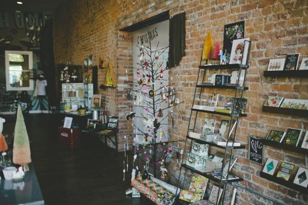 Festive Decor at Fancy and Staple Boutique in Fort Wayne, Indiana