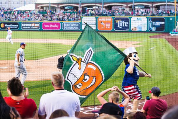 TinCaps Game - Johnny with Flag