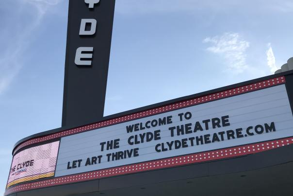 The Clyde Theatre Marquee