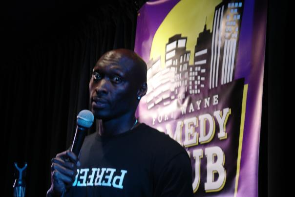Rodney Lumpkins performs at Fort Wayne Comedy Club