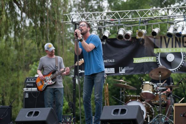 A Band performing at the Living Fort Wayne Concert Series