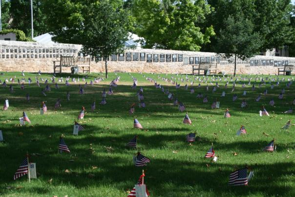 Memorial Day Flags at National Museum of the Pacific War