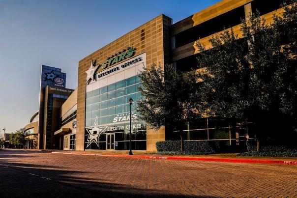 Outside shot of Comerica Center home to the NHL Dallas Stars