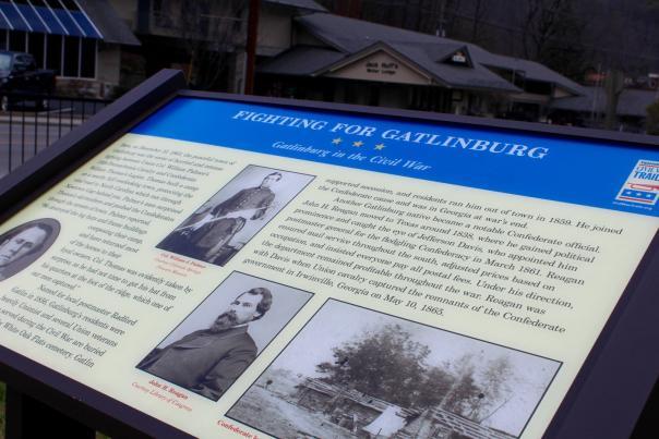 Civil-war-marker-Gatlinburg