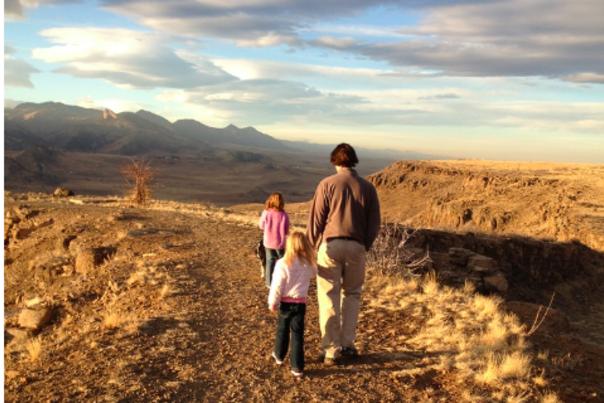 Hiking kids North Table Mountain