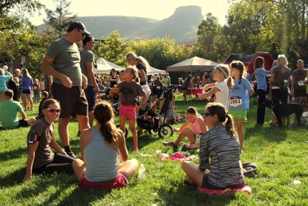 Festival w/CastleRock in Background