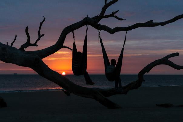 Watching the sunrise on Driftwood Beach, Jekyll Island is a truly magical experience