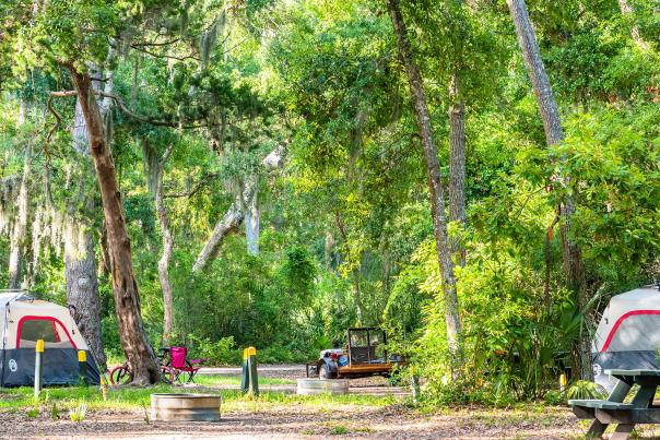 The Golden Isles is home to three campgrounds near the beach in Georgia.