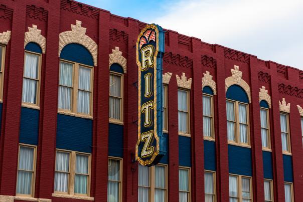Historic Ritz Theatre in Historic Downtown Brunswick, Georgia
