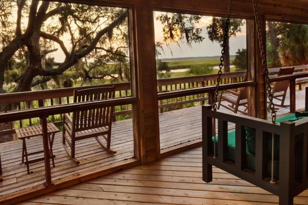 The River Lodge on Little St. Simons Island is one of six cottages on the island with large guest rooms and spectacular views