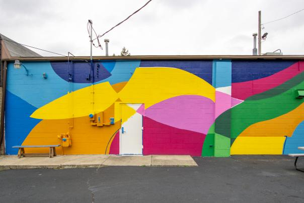 Mural in Creston for After Dark, 2020