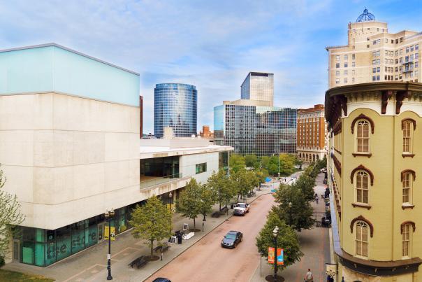 Bird's eye view of downtown Grand Rapids