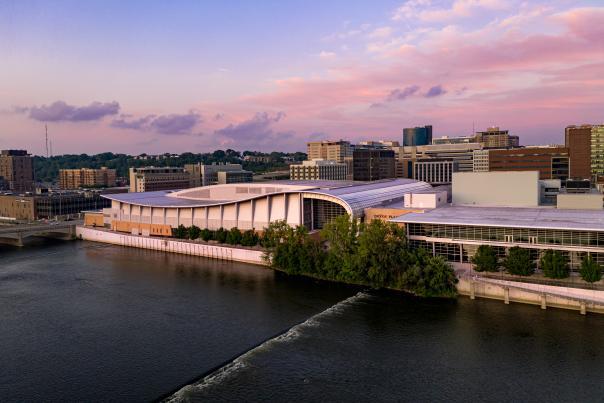 Devos Performance Hall River View Sunset, 2019