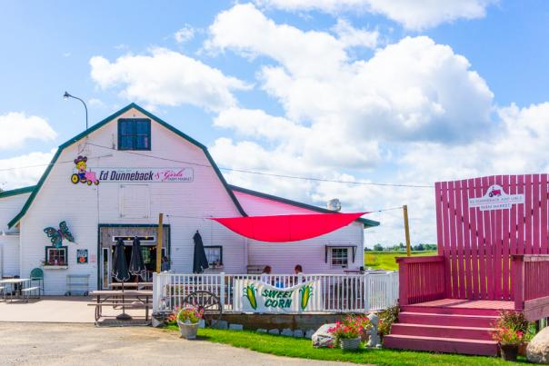 Pink Barrel Cellars at Ed Dunneback & Girls Farm - Front Entrance