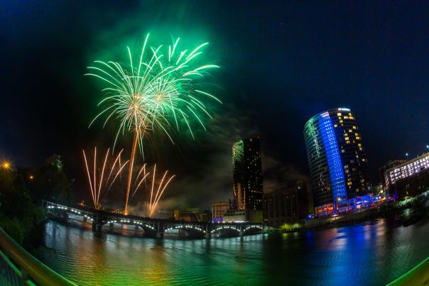Celebrate Independence Day with the whole family at Ah-Nab-Awen Park during the Amway Family Fireworks.