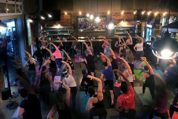 Yoga at Perrin Brewing