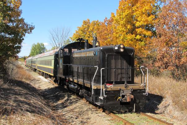 Ride the Coopersville Pumpkin Train for a day full of fall festivities! After the train ride, children can pick out a pumpkin to take home.