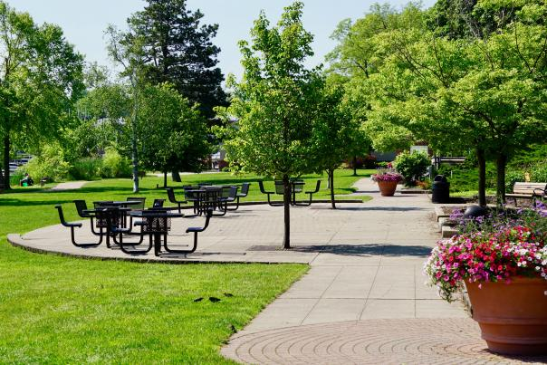 John Collins Park offers access to the paved Reeds Lake Trail.