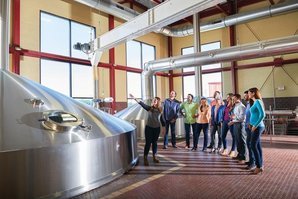 Tour Walking Through Founder Brewing Company