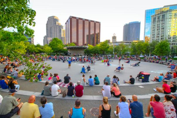 Located in the heart of Grand Rapids near Rosa Parks Circle, GRAM on the Green is help on the Grand Rapids Public Museum's Terrace