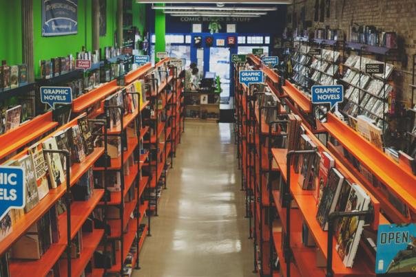 Whether you're looking for comics, games, or collectible items, Vault of Midnight carries a large selection to choose from.