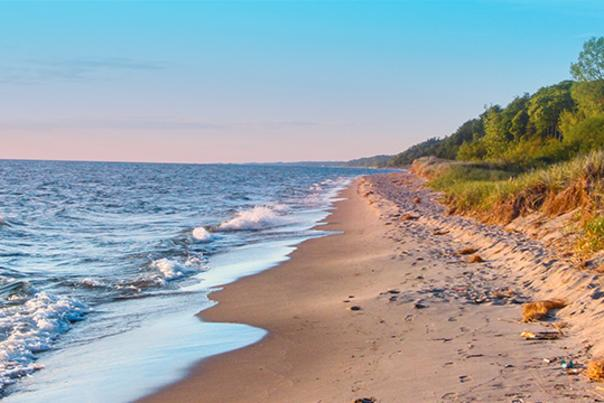 Lake Michigan is just 35 miles from Grand Rapids, making it a popular day trip for locals and visitors.