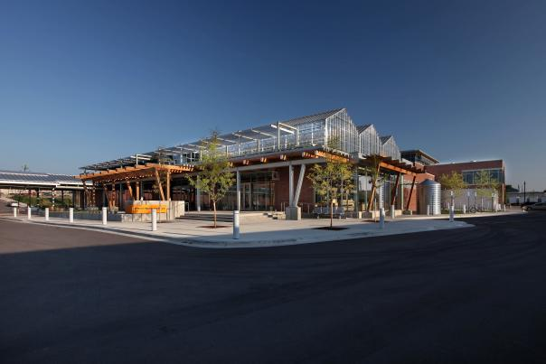 Take an elevator to the Downtown Market's second floor to enjoy its greenhouse and rain gardens.