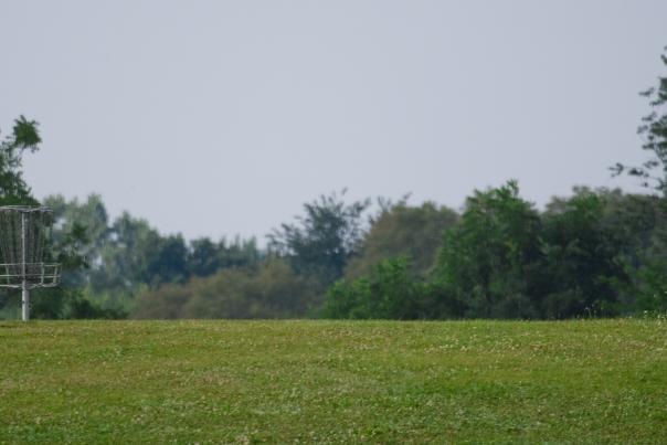 Disc golfers at Riverside Park