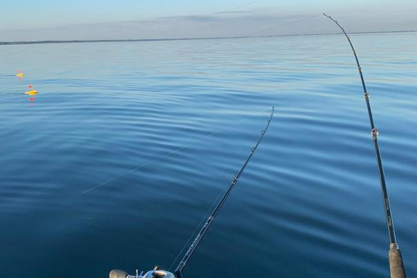 UGC - Waterfront - Fishing - Saginaw Bay Walleye Fishing - Lines Cast on Cool Blue Waters - @gsp_rufflife