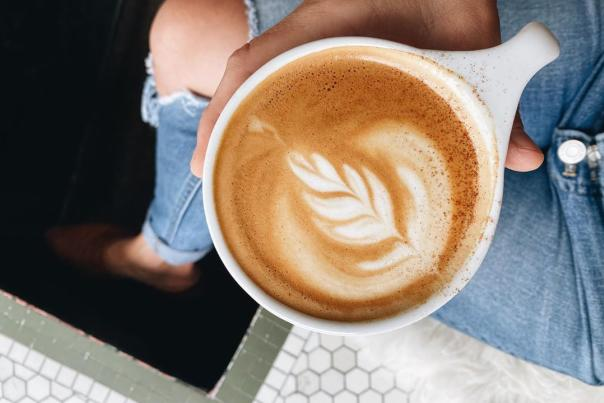 UGC - Eat + Drink - Coffee - Harless + Hugh Coffee - Latte Art Close-Up with Jeans - @harlessandhughcoffee