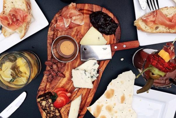 UGC - Eat + Drink - Restaurants - Prost Wine Bar & Charcuterie - Charcuterie Board on Dark Backdrop - @jessboroniec