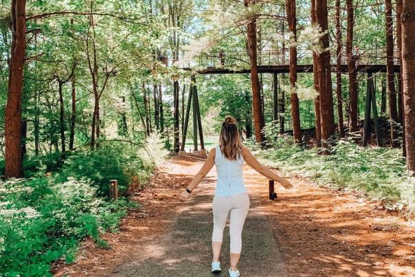 UGC - Outdoors - Trails - Dow Gardens - Girl Walking the Ground Trails - @mrsbrookebeyer