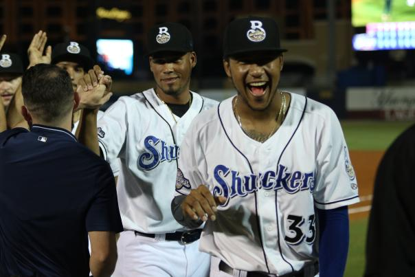Shuckers Celebrating