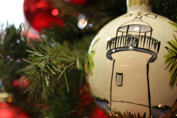 Biloxi Lighthouse Christmas Ornament blog header image