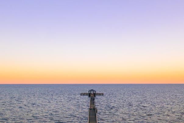 Coastal Mississippi pier sunset