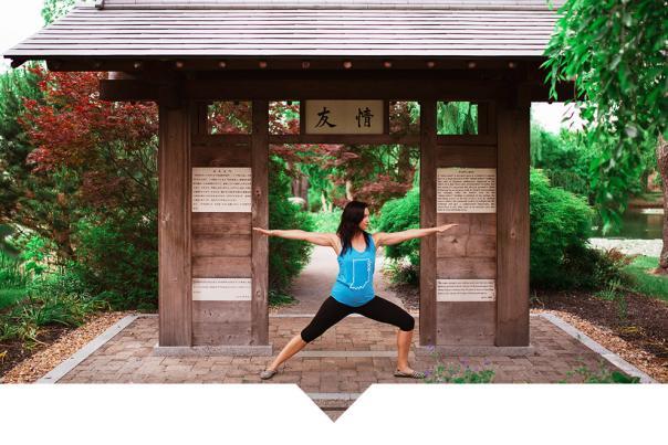 Japanese Garden Yoga