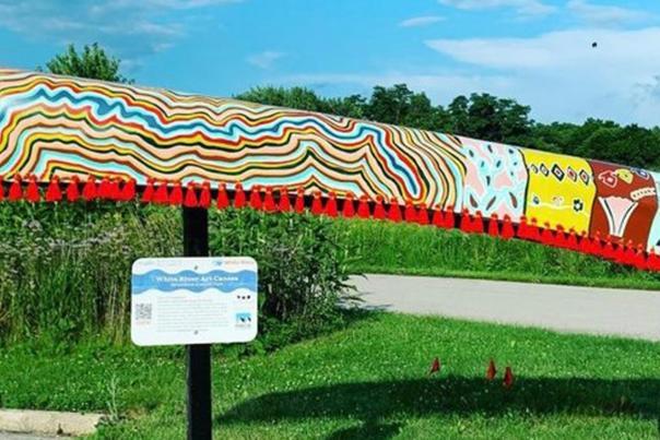 White River Art Canoes