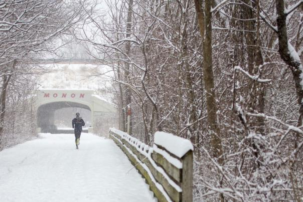 Monon Trail with snow