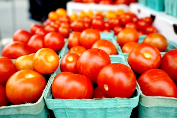 Tomatoes at Bel Air Farmer's Market