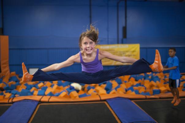 Sky Zone trampoline foam pit