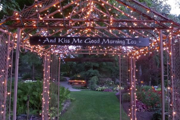 Avon Gardens wedding sign