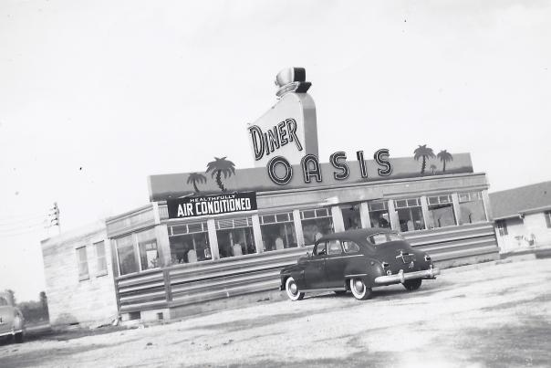 Original Oasis Diner black and white 1954
