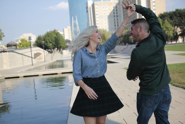 Rose & Matt dancing engagement wedding