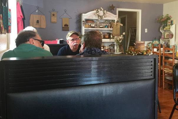 Customers inside O'Knappy's Kitchen