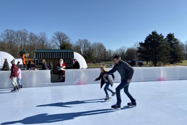penguin park, open skate, Santa, Washington Township Park