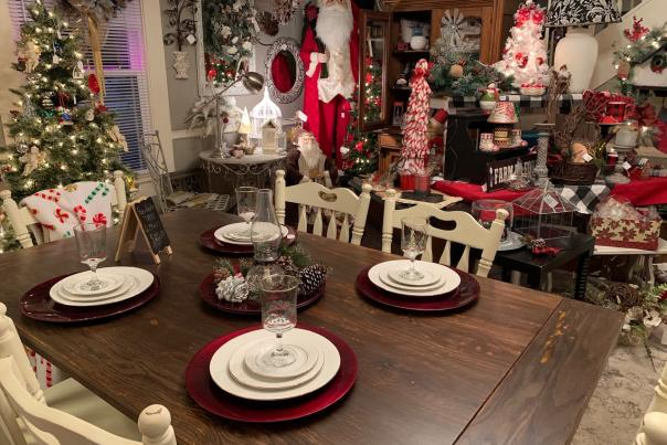 Beautiful displays and holiday decor at Seek and Find