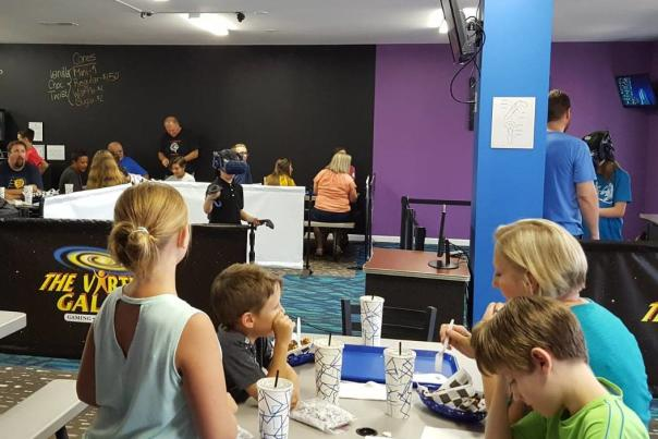 Virtual Galaxy Cafe, virtual reality