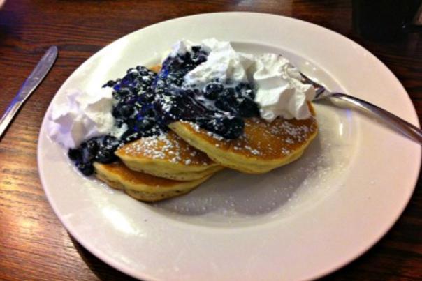 Emmy's blueberry pancakes